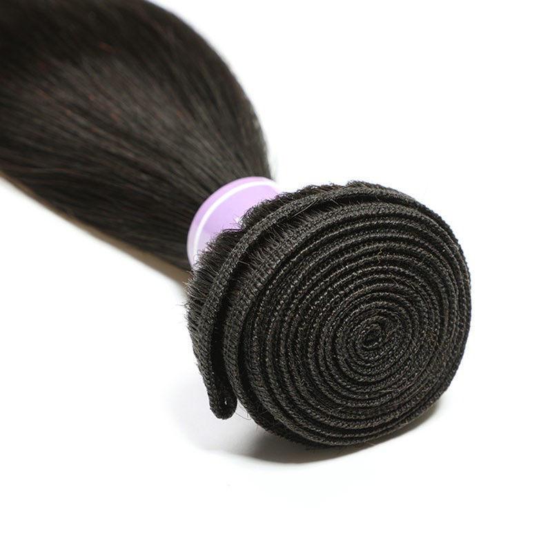 SocoosoHairWig latest trend 3 bundles straight 100 virgin human hair plus 66 inches lace closure on sale