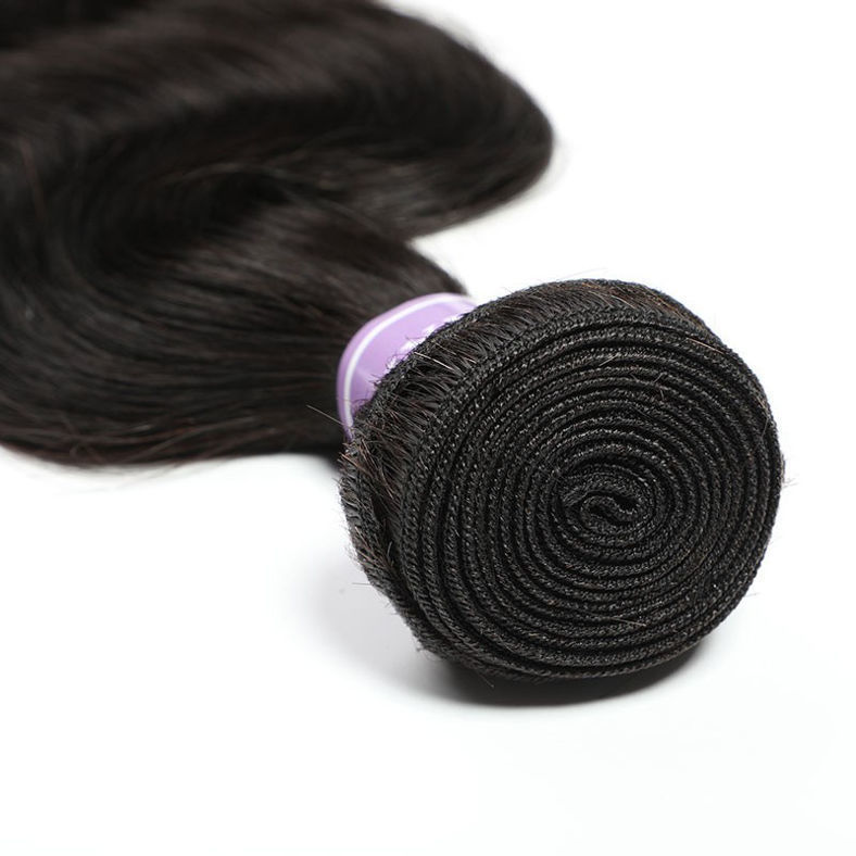 SocoosoHairWig 3 weft bundles free mixed body wave 100 virgin human hair plus 5x5 inch seamless lace clo