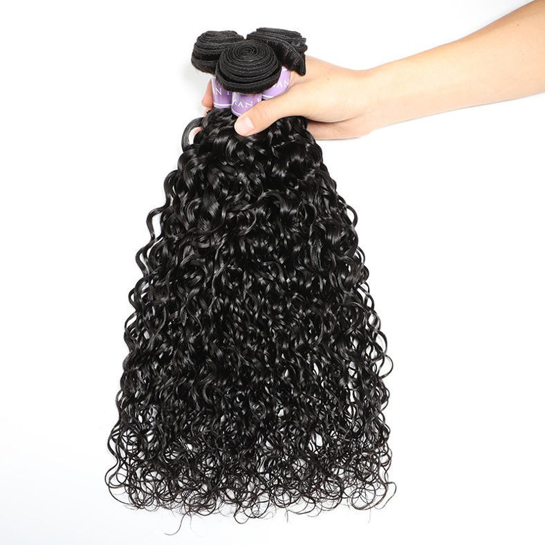 SocoosoHairWig best selling flawless natural indian wave 3 bundles weave with lace closure 44 inch on sa
