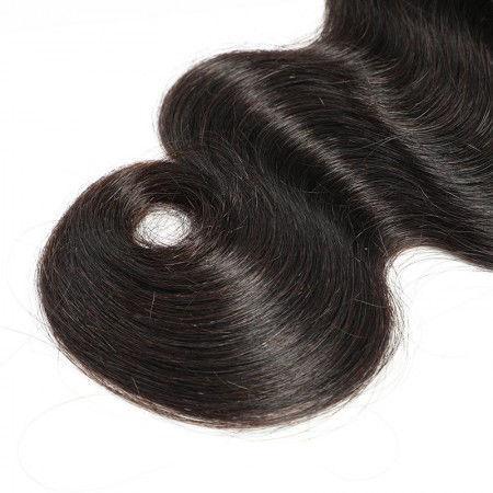 SocoosoHairWig indian body wave 360 lace frontal closure plus 2 bundle human hair weave