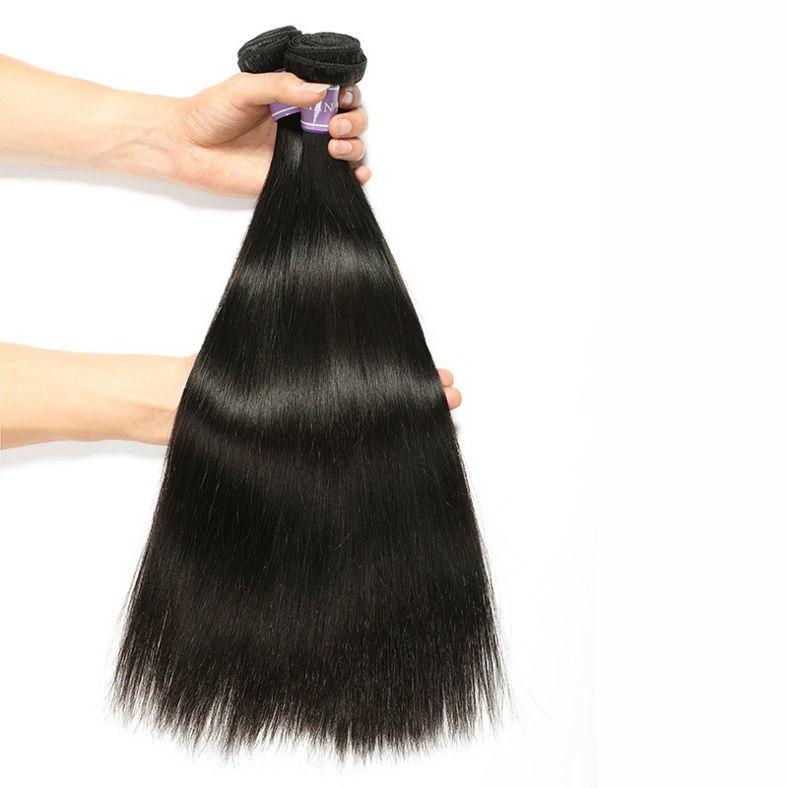 SocoosoHairWig 3 hair weave peruvian straight virgin hair with 1 piece 4x4 lace closure