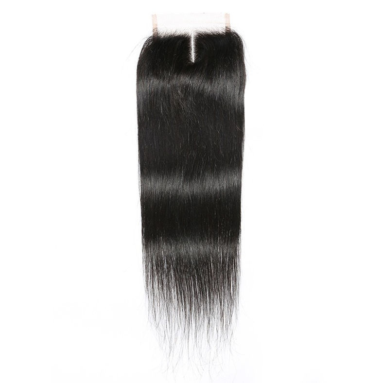 SocoosoHairWig 3 hair weave peruvian straight virgin hair with 1 piece 4x4 lace closure