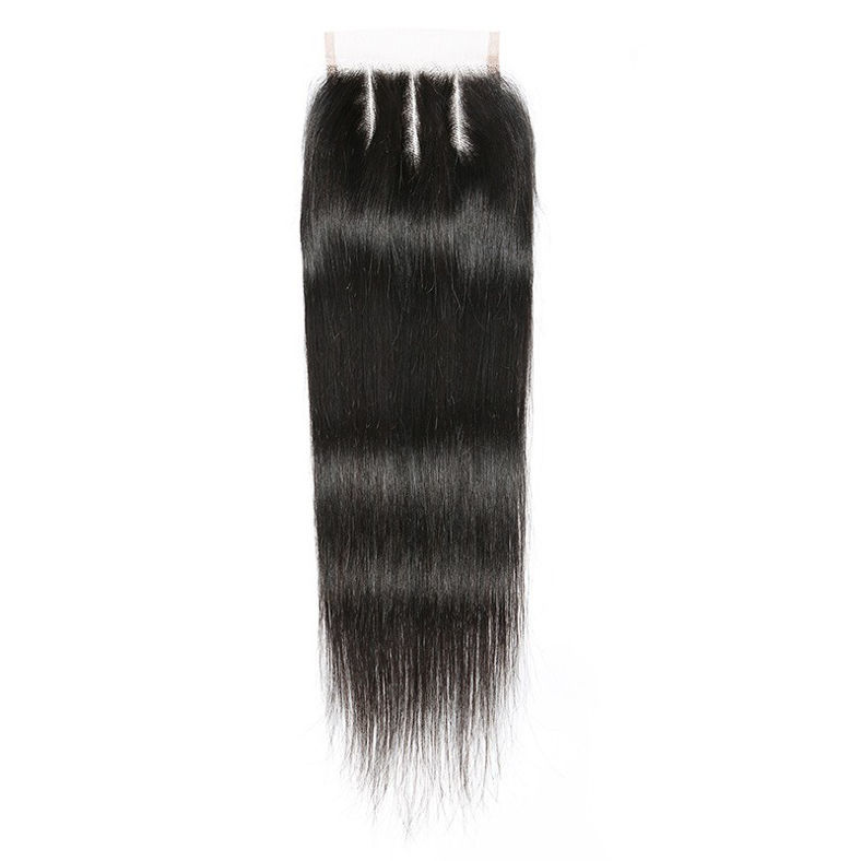 SocoosoHairWig 3pcs hair weave malaysian human hair with straight virgin 4x4 inch lace closure