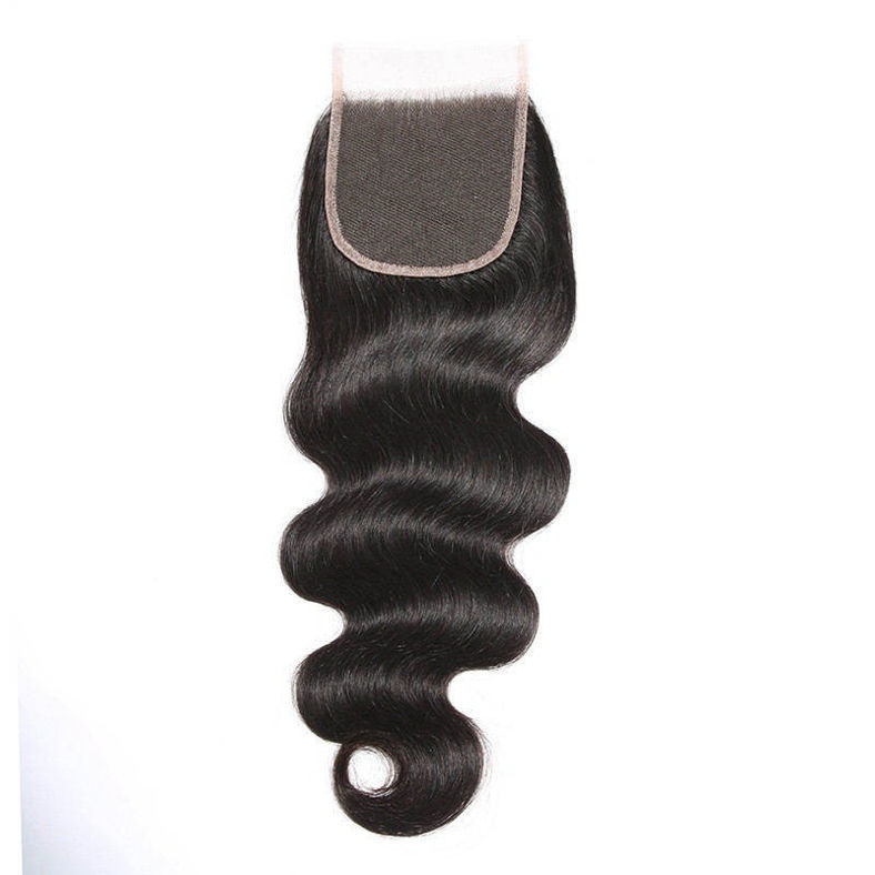 SocoosoHairWig 3 bundles body wave human virgin hair with 4x4 area lace closure