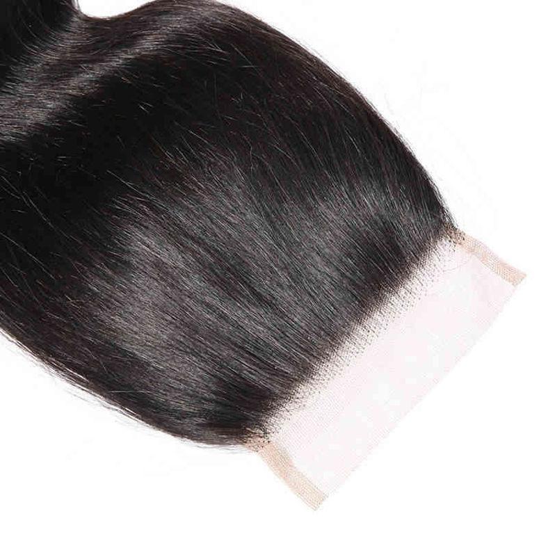 SocoosoHairWig 3 bundles body wave human virgin hair with 4x4 area lace closure
