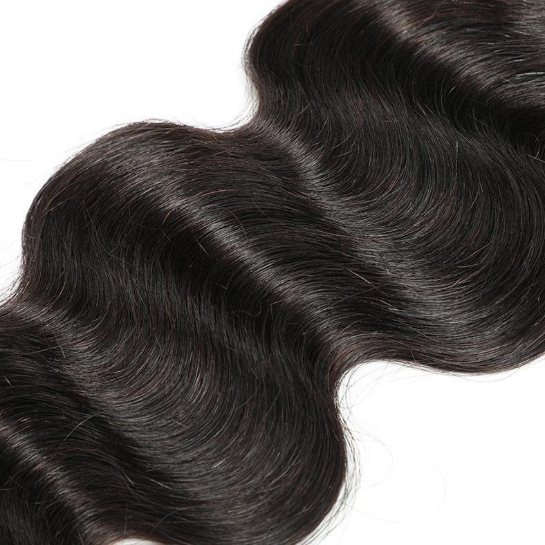 SocoosoHairWig 3 unit body wave human virgin hair 1 unit free part 360 lace frontal