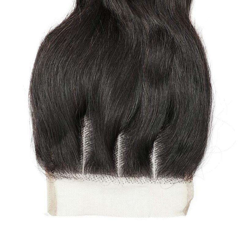 SocoosoHairWig brazilian loose wave 3 bundles human hair weave with lace closure 4x4 inch area