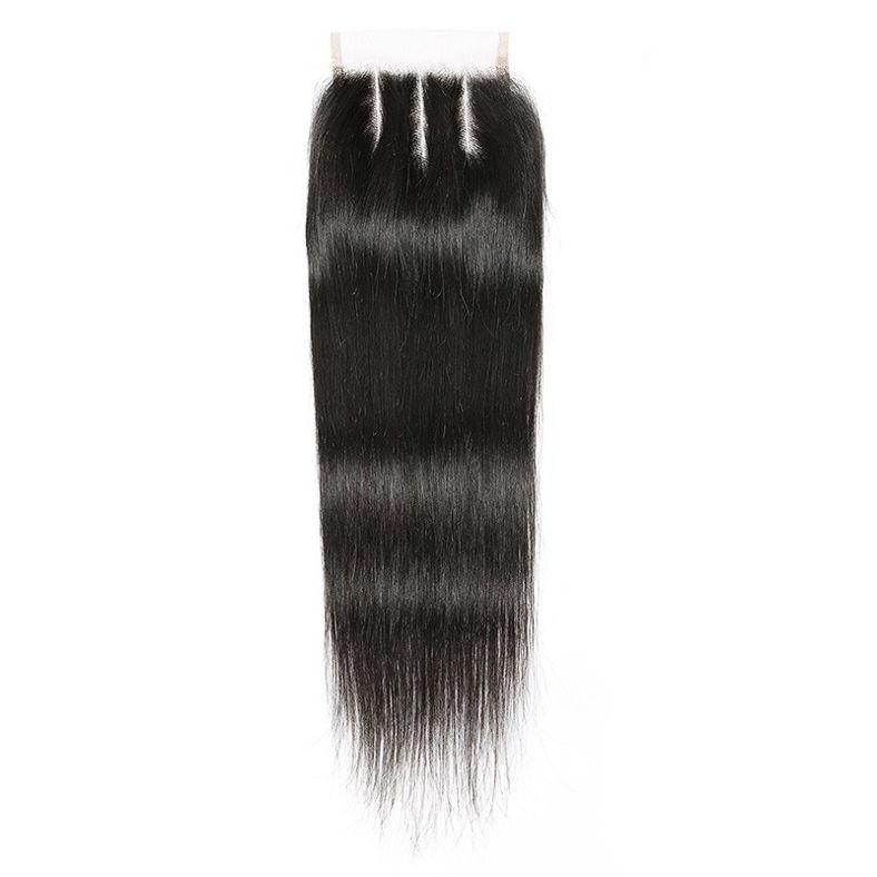 SocoosoHairWig indian virgin 3 bundles straight hair weft with 8 20inch lace closure full handmade sew i