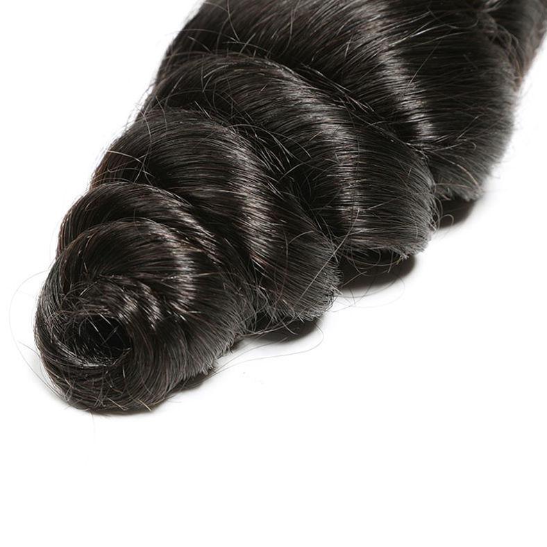 SocoosoHairWig indian loose wave hair 3 weave match 1pc lace closure 4x4 inch human hair
