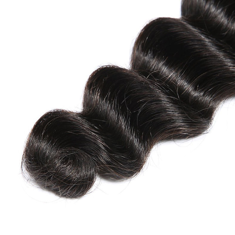 SocoosoHairWig loose deep wave 4x4 inch closure 3 bundles indian virgin hair weave