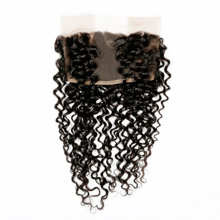SocoosoHairWig high quality brazilian pretty curly 100 virgin human hair 3 bundles with 13x4 lace fronta