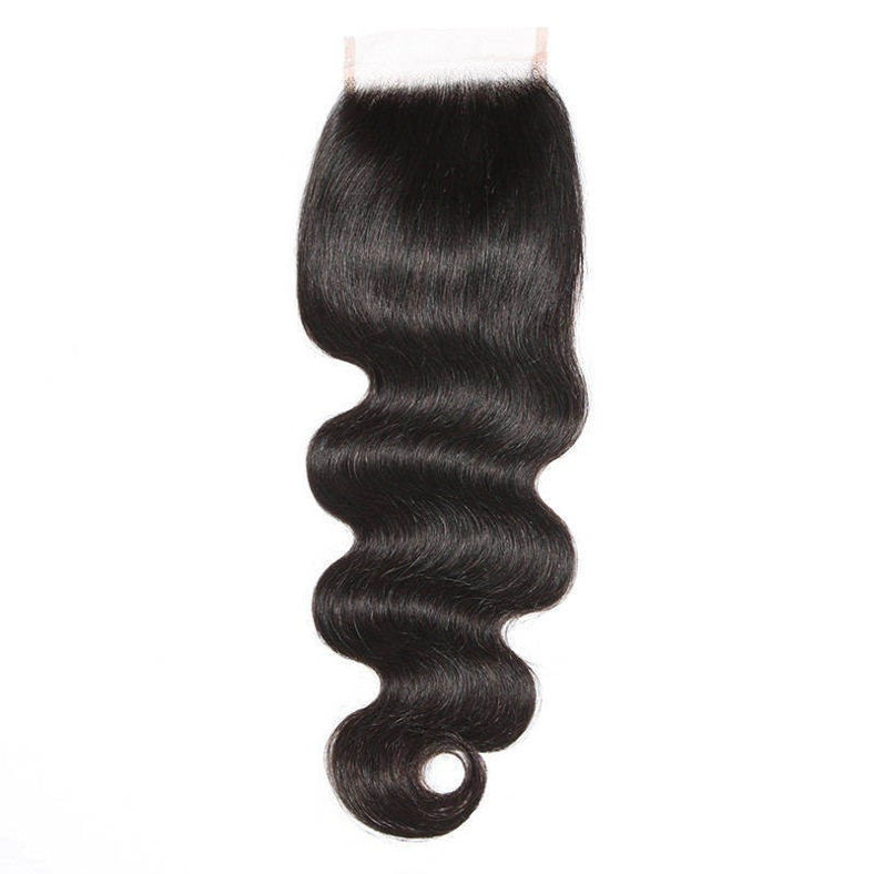 SocoosoHairWig virgin brazilian body wave lace closure 4x4inch plus 4 human hair bundles as a set