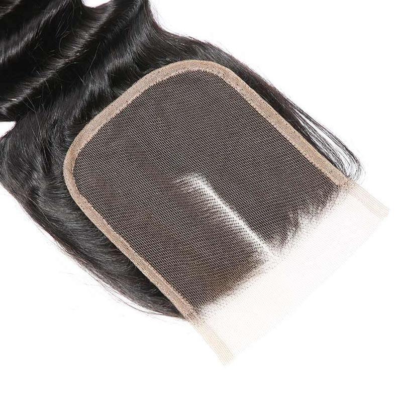 SocoosoHairWig peruvian loose deep wave 4x4 closure plus 4 pieces virgin hair weave