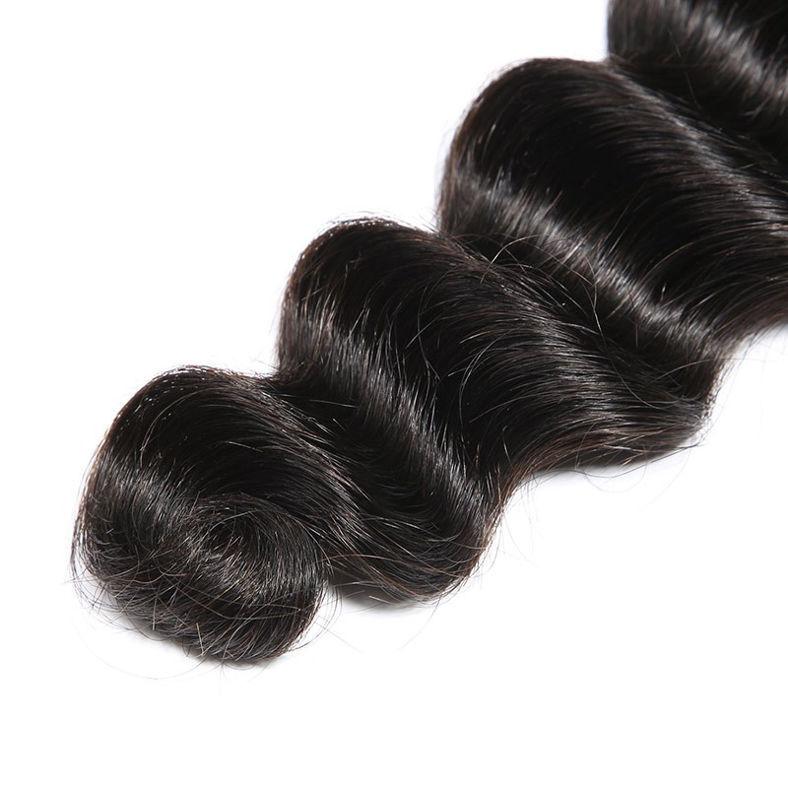 SocoosoHairWig loose deep wave hair weave 4 pcs with 1 pcs lace closure 100 virgin human hair