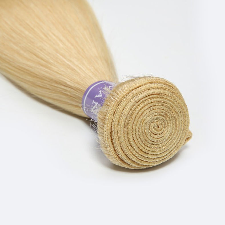 SocoosoHairWig straight 613 blonde human hair weave 4 pcs 1pcs lace closure 4x4 for sale