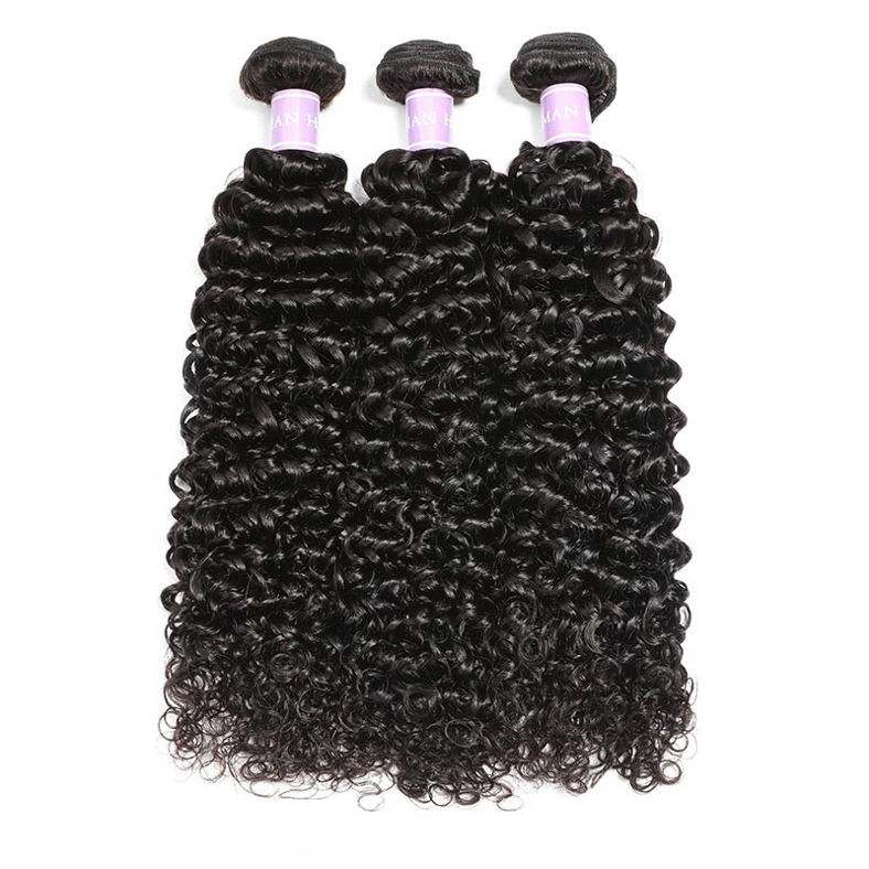 SocoosoHairWig indian curly hair weave 3 bundles plus 1 free part type lace frontal set