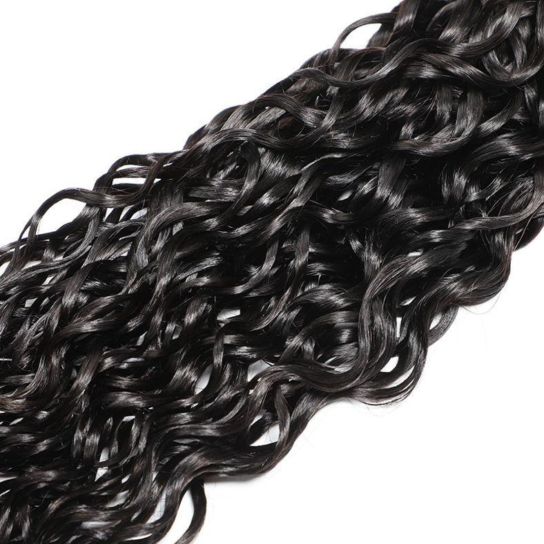 SocoosoHairWig brazilian natural wave hair closure 4x4 with virgin hair weave 4 pcs
