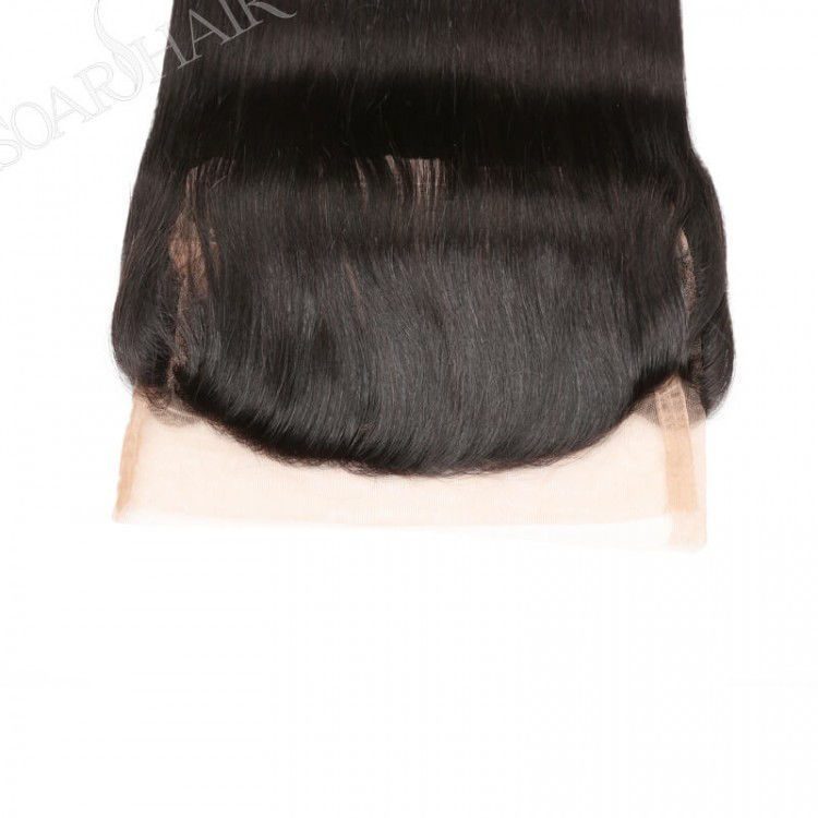 SocoosoHairWig brazilian straight 3 bundles weave with human hair of 360 lace frontal