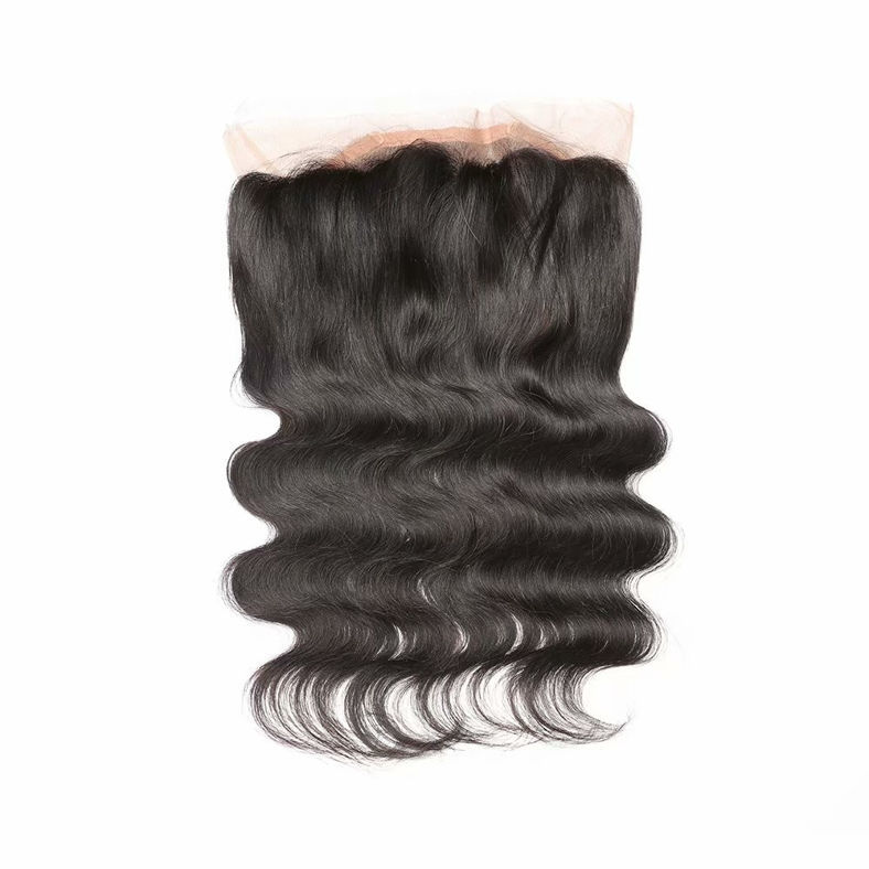 SocoosoHairWig malaysian body wave quality virgin hair 360 lace frontal with 1b color 3 bundles matched