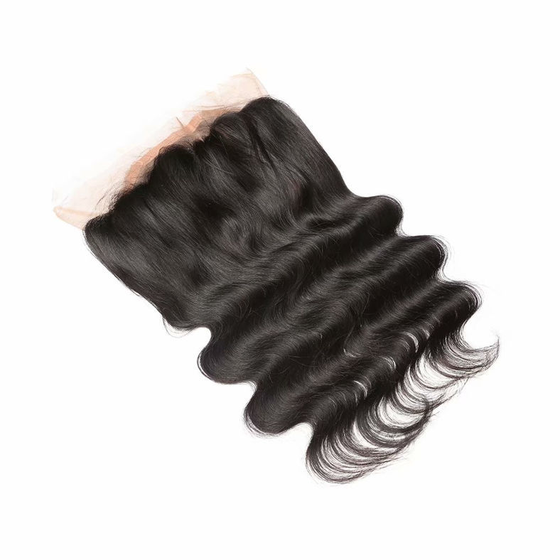 SocoosoHairWig 3 pcs brazilian natural black body wave virgin hair weave match 1 unit circle 360 lace fr