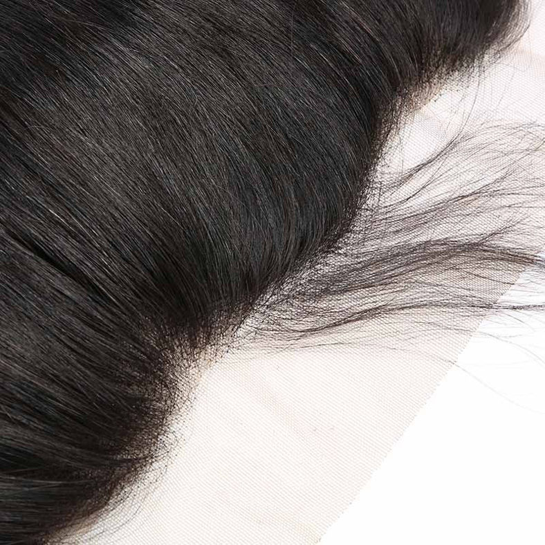 SocoosoHairWig straight brazilian 3 bundle hair weave with 13x4 closure made of 100 human hair