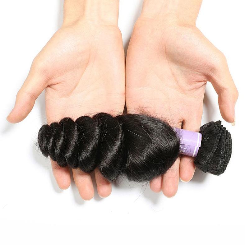 SocoosoHairWig lace frontal with 3 bundles 16 26 inch peruvian loose wave virgin top hair