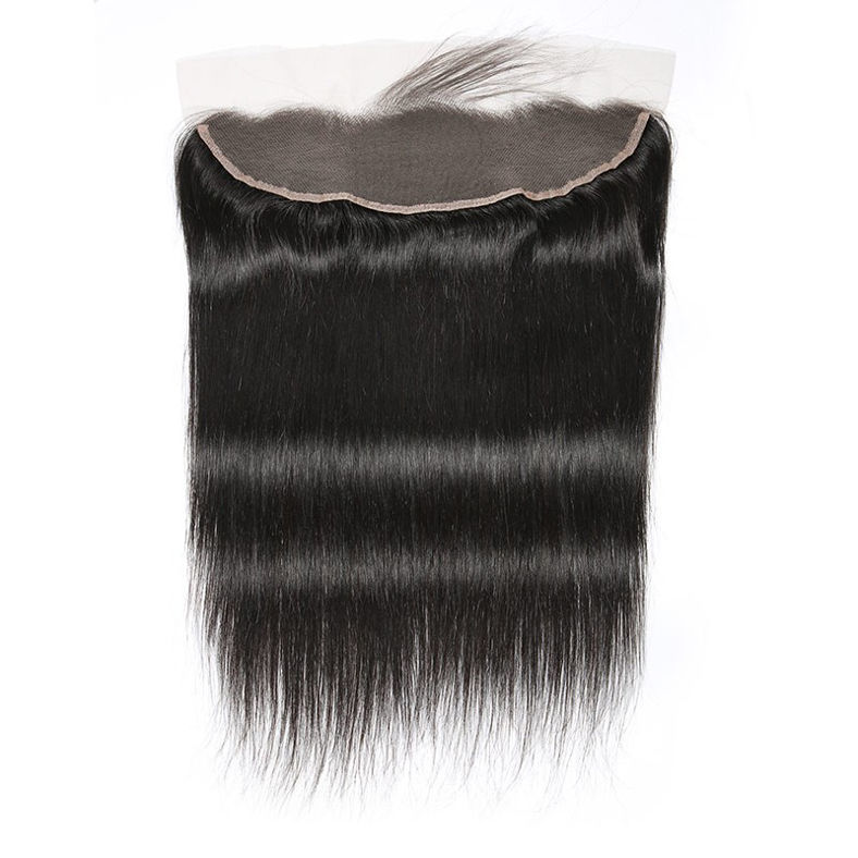 SocoosoHairWig malaysian straight hair 3 bundles wefts 4x13 inch natural black closure