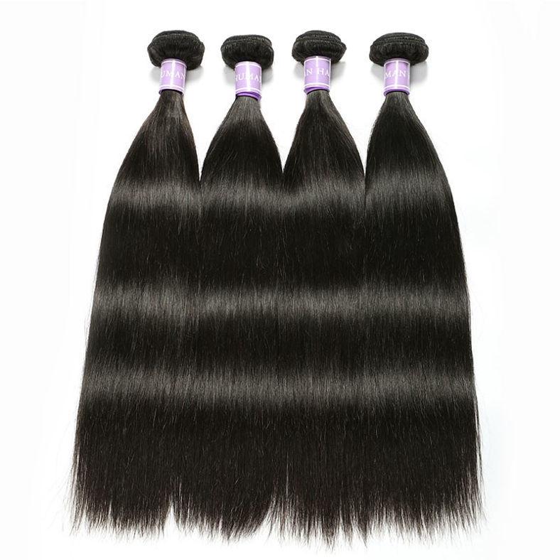 SocoosoHairWig 4pcs brazilian straight original virgin human hair with 1 unit lace closure