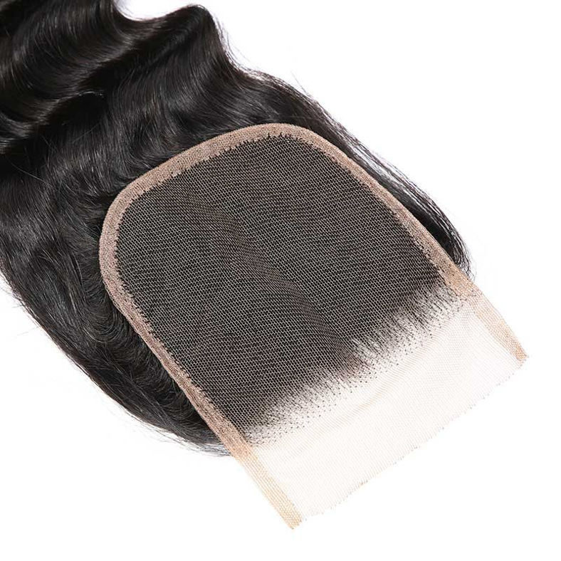 SocoosoHairWig malaysian virgin human hair loose deep wave of 4 bundles with 1pcs lace closure