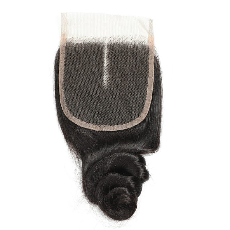 SocoosoHairWig brazilian loose wave hair weft 4 pcs with 1pcs of lace closure 4x4 inch area