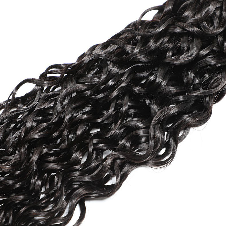 SocoosoHairWig natural wave weave 4 pcs with 4 by 4 inch lace closure of virgin human hair