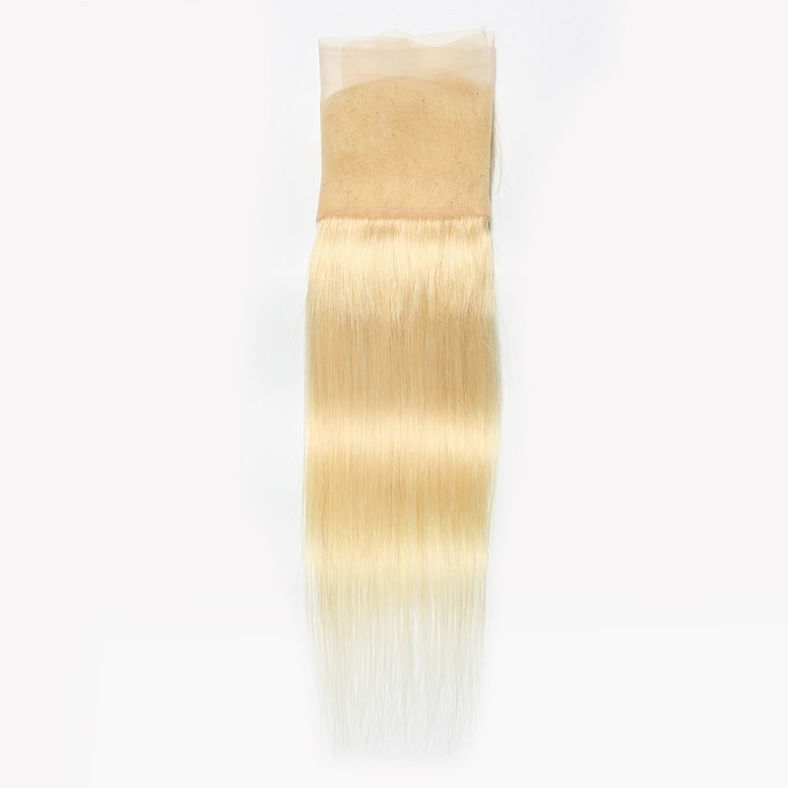 SocoosoHairWig brazilian straight hair 613 blonde color 3 bundles weft with lace frontal 413 wholesale