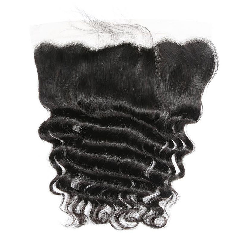 SocoosoHairWig set of 3 bundles malaysian loose deep wave weave with 13x4 inch square lace frontal