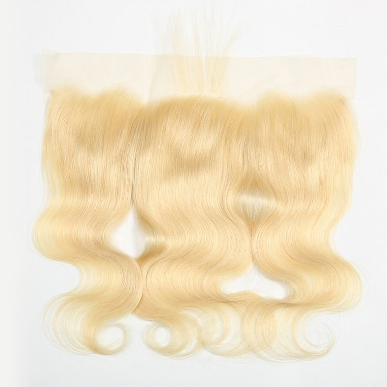 SocoosoHairWig peruvian hair of body wave 613 blonde 3 bundles free part lace frontal 413