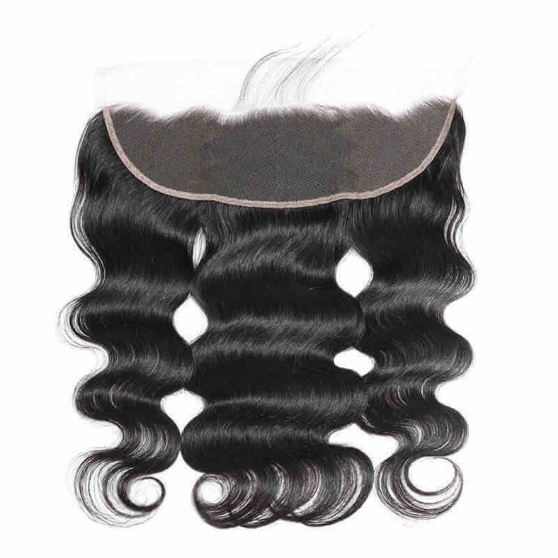 SocoosoHairWig indian remy hair body wave hair 3 bundles weave with frontal 13x4 inch