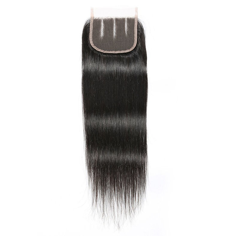 best seller SocoosoHairWig 4 bundle straight virgin human hair with 4x4 square inch lace closure
