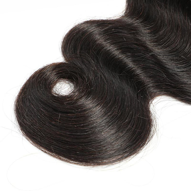 SocoosoHairWig body wave 4x4 inch area middle part lace closure match with 4pcs remy human hair bundles