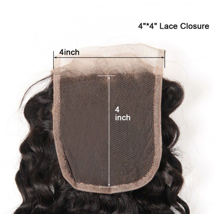 top quality SocoosoHairWig deep wave hair of 4 bundles match 1 pcs lace closure 4x4 inch square