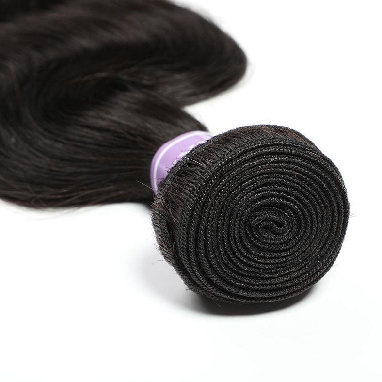 SocoosoHairWig 4pcs peruvian body wave virgin hair weft match with 1 4x4 lace closure