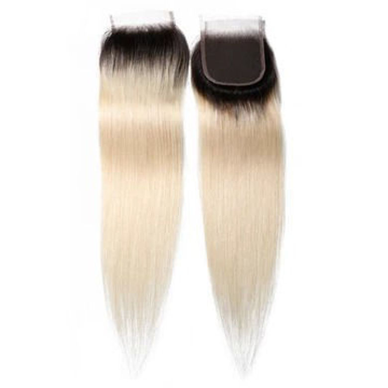 SocoosoHairWig 1b613 color virgin hair lace closure 4x4 inch straight hair closures