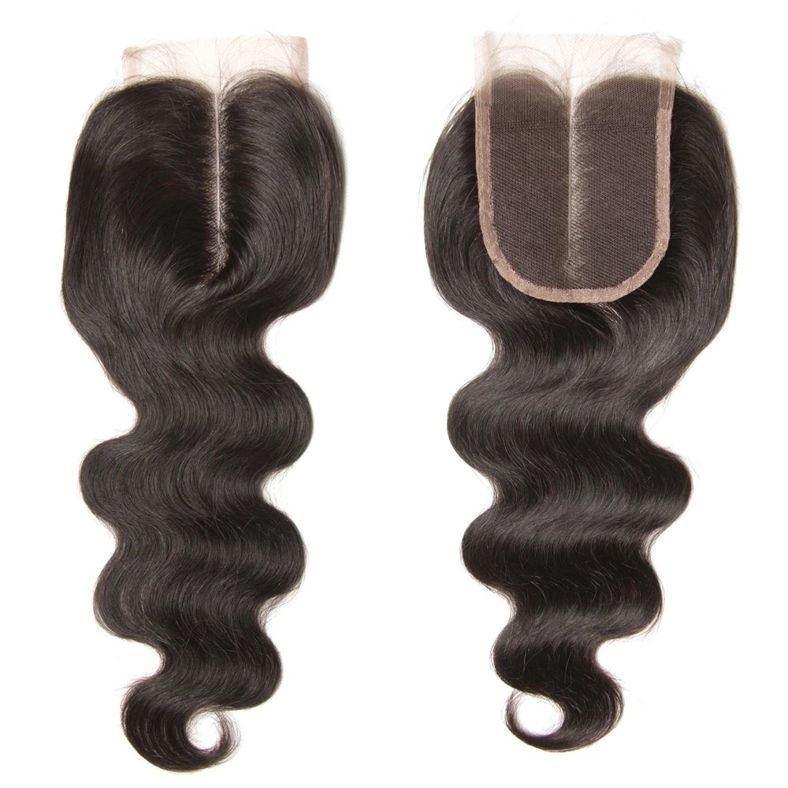 1 unit 4x4 inch square lace closure of remy hair body wave style 3 type part