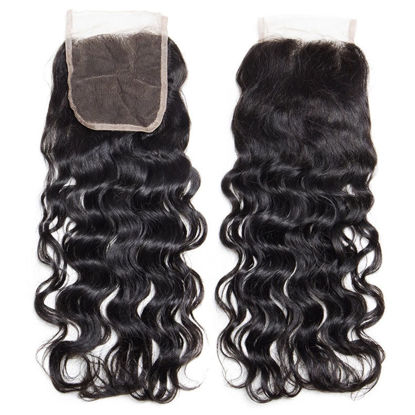 SocoosoHairWig natural wave virgin human hair of 4x4 free part swiss lace closure