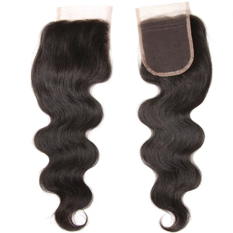 SocoosoHairWig indian human hair of 1pc 4x4 lace closure body wave style