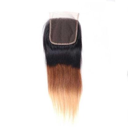 SocoosoHairWig 1b427 ombre virgin hair lace closure of 4x4 inch straight hair