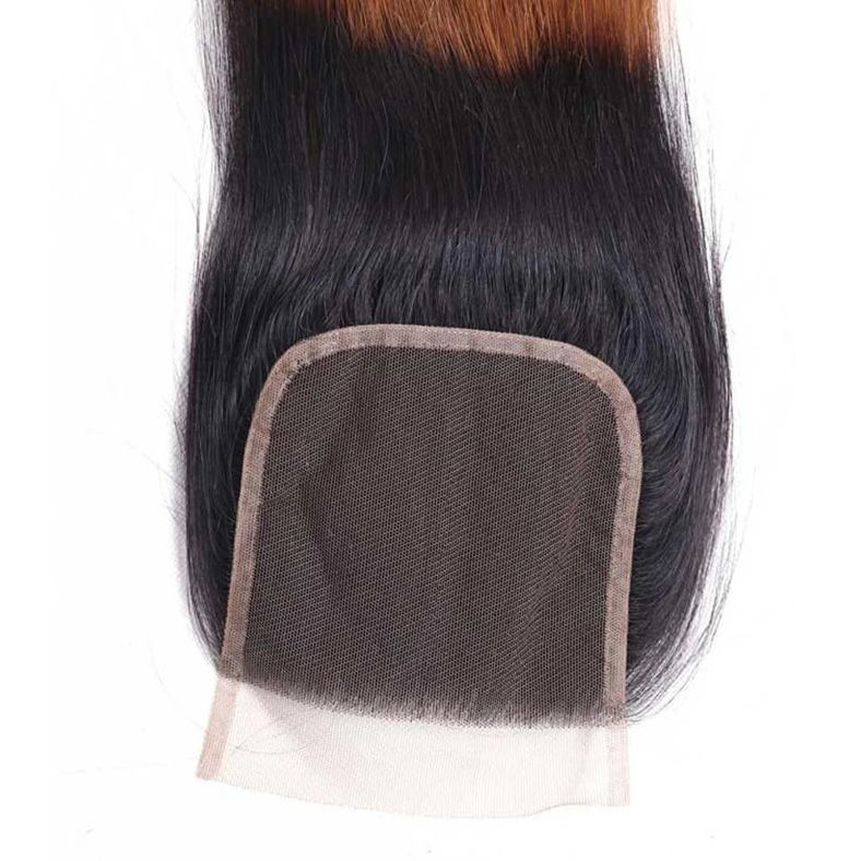 SocoosoHairWig 1b427 ombre virgin hair lace closure of 4x4 inch straight hair