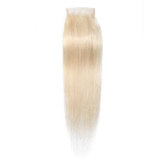 SocoosoHairWig best 1 unit 613 color virgin hair straight lace closure 44 inch square lace