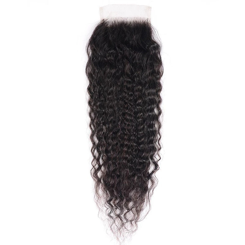 SocoosoHairWig 1 unit 4x4 inch super wave lace closure of free part virgin human hair