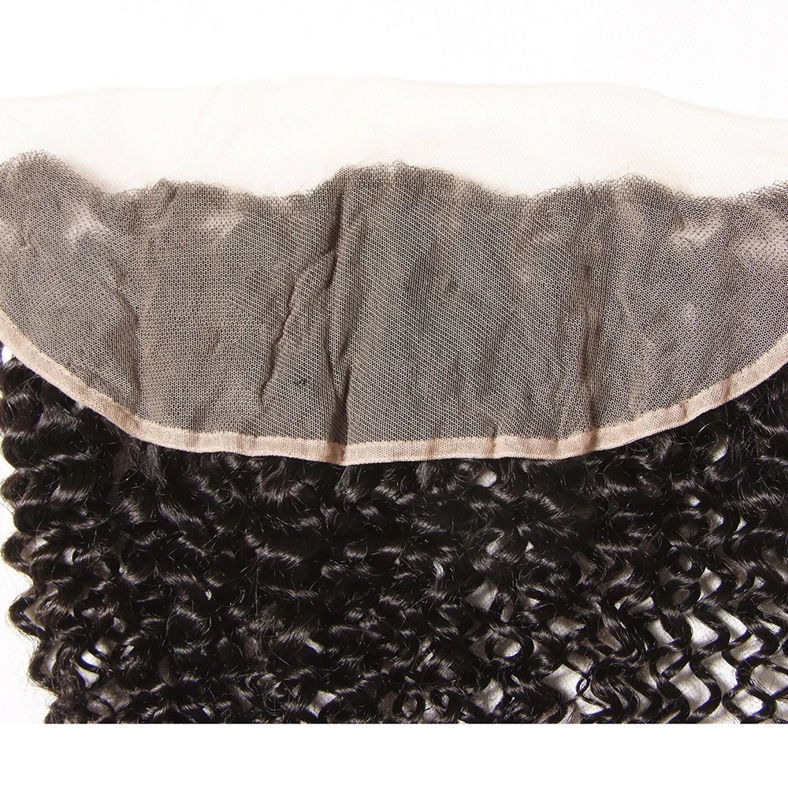 SocoosoHairWig virgin curly human hair 13x4 inch square ear to ear lace frontals 1 pieces on sale