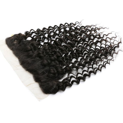 SocoosoHairWig deep wave human hair 134 ear to ear lace frontals 1 pieces 4 type hair for selection