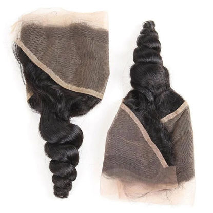SocoosoHairWig loose wave 13x4 ear to ear virgin hair lace frontal 1 pieces best quality